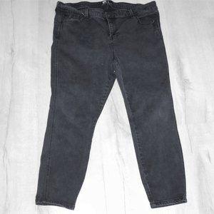 Body Sculpt Black Cropped Jeans 18 Black